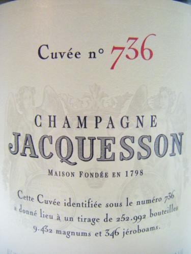 Champagne Jacquesson cuvée 736