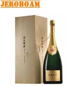 Champagne Krug Grande Cuvée Jeroboam 3l - caisse bois