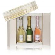 Champagne Deutz coffret prestige 3 demi-bouteilles 75cl