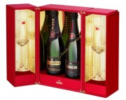 Champagne Piper Heidsieck 1996-2006 Coffret Baccarat 2 flutes