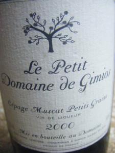 Cépage Muscat Petits Grains - Vin de liqueur 2000
